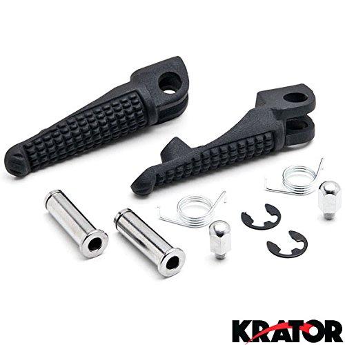 Krator® Black Front Foot Rest Pegs For Kawasaki Ninja Zx-6r Zx-10r Zx-9r 650r Z1000 Z750 Black Motorcycle Foot