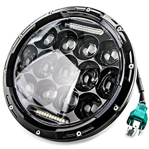 7 LED Headlight For Harley Davidson Motorcycle Projector Daymaker High Low Beam DRL LED Light Bulb For Jeep Wrangler JK LJ CJ Headlamp Black