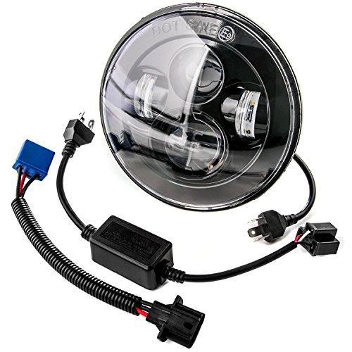 7 LED Headlight For Harley Davidson Motorcycle Projector Daymaker High Low Beam LED Light Bulb For Jeep Wrangler JK LJ CJ Headlamp Black