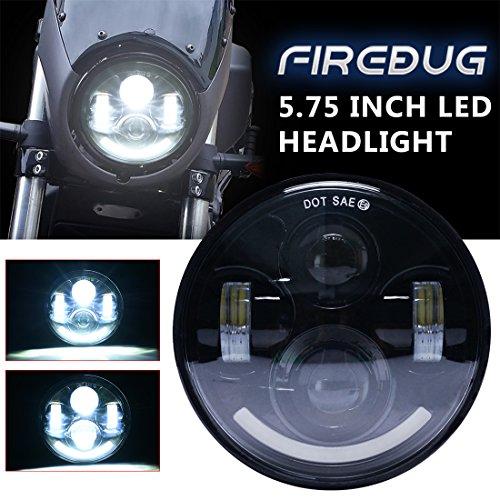 Firebug 575 Harley Headlight White Smile DRL 5 34 Inch Daymaker Led Headlight for Harley Davidson Motorcycles Dyna Softail Sportster Super Glide Road King