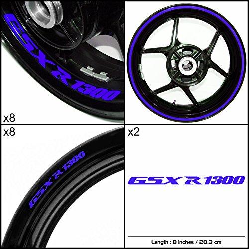 Stickman Vinyls Suzuki GSXR 1300 Hayabusa Motorcycle Decal Sticker Package Gloss Blue Graphic Kit