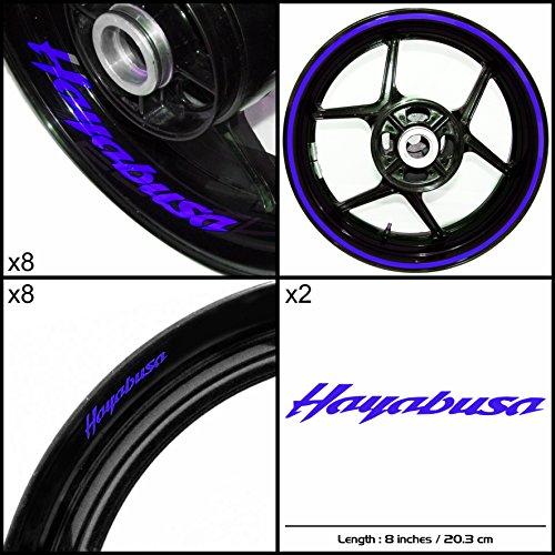 Stickman Vinyls Suzuki Hayabusa Motorcycle Decal Sticker Package Reflective Blue Graphic Kit