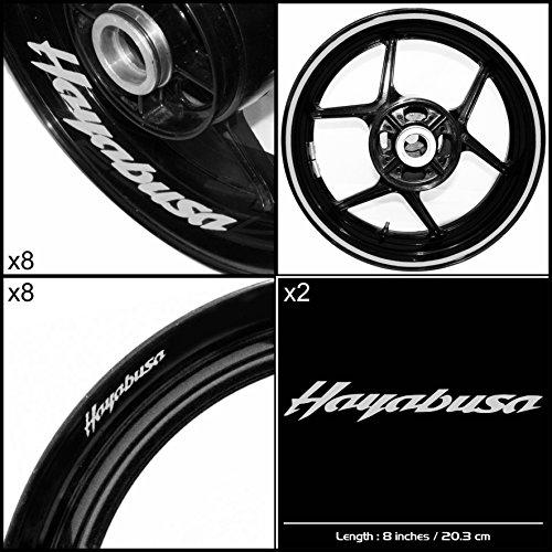 Stickman Vinyls Suzuki Hayabusa Motorcycle Decal Sticker Package Reflective Silver Graphic Kit