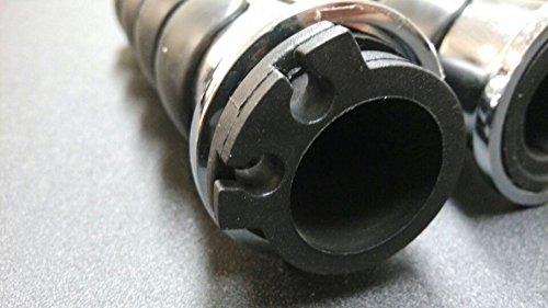 XKH Group Chromed Spike Rubber 1 Handlebar Grips For Kawasaki Nomad 1500 Fi Drifer Classic Mean Streak 800 1600 Vulcan 2000 See description for detail New product