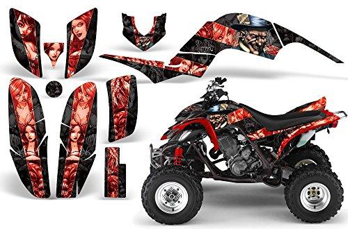 2001-2005- Yamaha Raptor 660 AMRRACING ATV Graphics Decal Kit-MadHatter-Red-Black