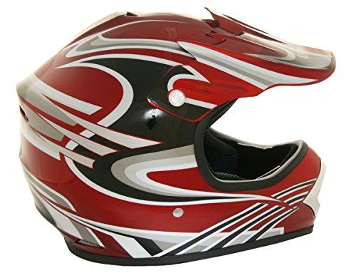 Lunatic L-2010RG-14 Youth MX  ATV Helmet Red with Graphic - Medium
