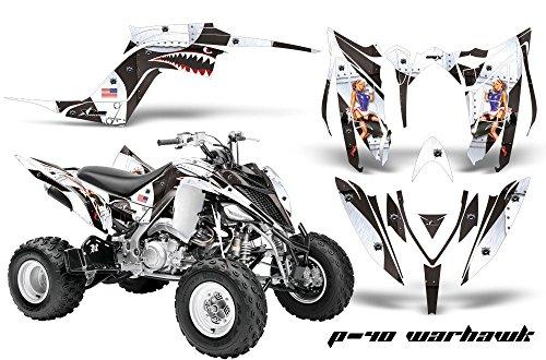 Yamaha Raptor 700 ATV Graphics Kit 2014 - Meltdown Yellow Red - AMR Racing