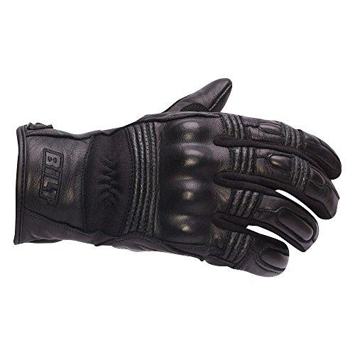 CUSTOM BILT Womens Interstate Leather Motorcycle Gloves - MD Black