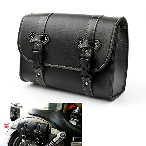 Areyourshop Pu Leather Side Saddle Bag Saddlebags For Harley Dyna Night Rod Xl883 Xl1200