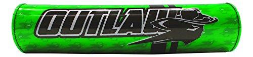 Outlaw Racing ORBP78GN Handlebar Cushion Crossbar Pad Green Motorcycle Dirtbike