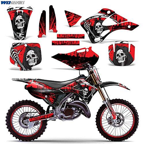Kawasaki KX125 KX250 1999-2002 Graphics Kit Dirt Bike MX Motocross Decal KX 125 KX 250 REAPER RED