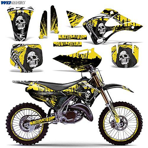 Kawasaki KX125 KX250 1999-2002 Graphics Kit Dirt Bike MX Motocross Decal KX 125 KX 250 REAPER YELLOW