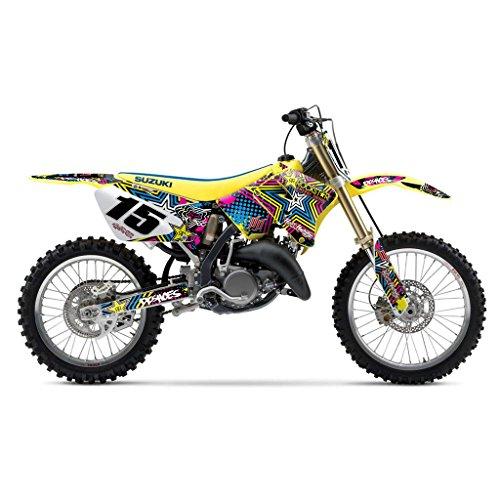 SUZUKI RM 125 250 2001-2012 COLORFUL STAR MX MOTOCROSS DECAL KIT