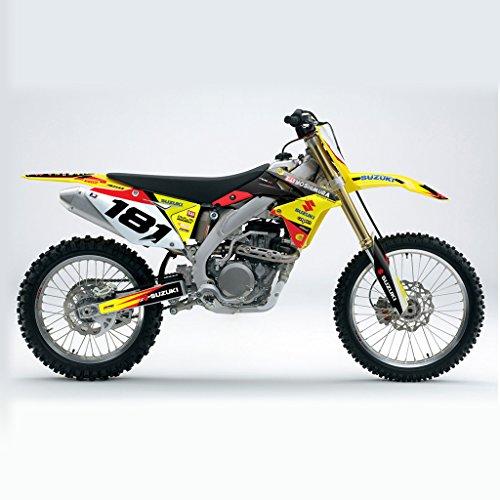 SUZUKI RMZ 450 2008-2014 YELLOW RED BLACK MX MOTOCROSS DECAL KIT