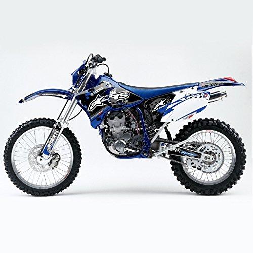 YAMAHA WR 450F 250F 2005-2006 BLUE WHITE MX MOTOCROSS DECAL KIT