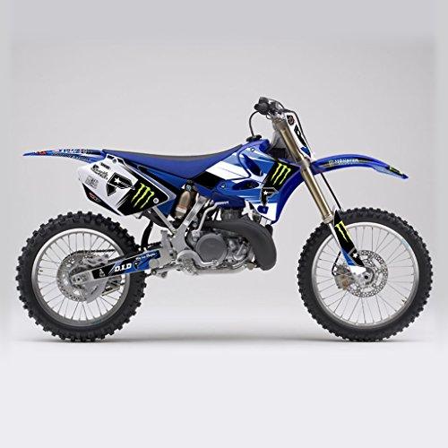 YAMAHA YZ 125 250 2006-2012 BLUE WHITE MX MOTOCROSS DECAL KIT