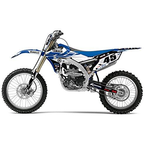 YAMAHA YZ 250F 450F 2014 BLUE WHITE MX MOTOCROSS DECAL KIT