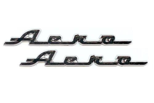 Motorcycle FenderSaddlebag Emblems Aero Emblem Pair
