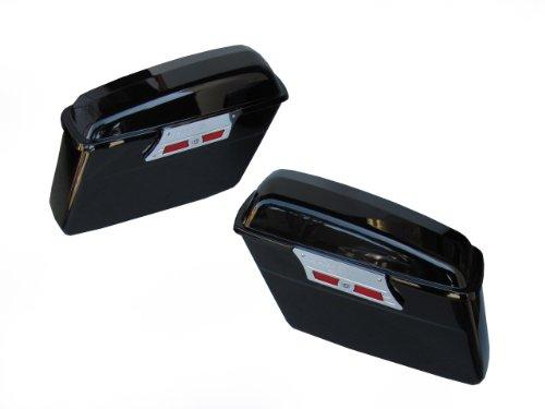Smooth Face Hard Saddlebags for 04 Honda Aero VT750