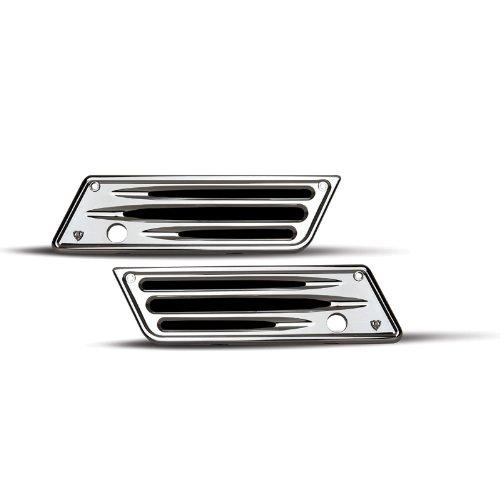 Arlen Ness 03-529 Deep Cut Chrome Saddlebag Latch Covers for Harley 93-13 FLT 03-529
