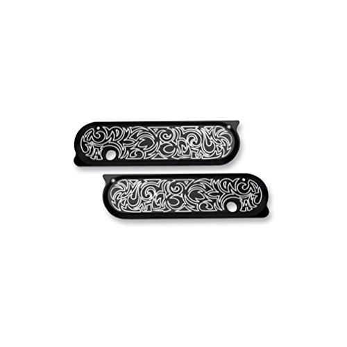Arlen Ness 03-581 Black Ness-Tech Billet Saddlebag Latch Cover