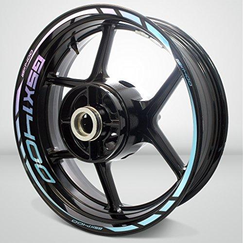2 Tone Amethyst Motorcycle Rim Wheel Decal Accessory Sticker for Suzuki GSX 1400