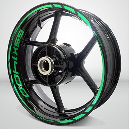 Reflective Green Motorcycle Rim Wheel Decal Accessory Sticker for Suzuki GSX 1400