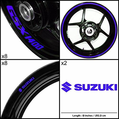 Stickman Vinyls Suzuki GSX 1400 Motorcycle Decal Sticker Package Reflective Blue Graphic Kit