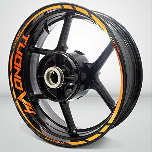 Aprilia Tuono V4 Reflective Orange Motorcycle Rim Wheel Decal Accessory Sticker