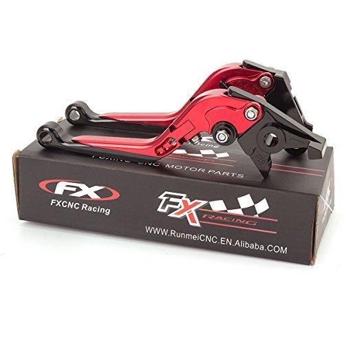 FXCNC Racing Billet Folding Extendable Adjustable Brake Clutch Levers set Pair fit for Aprilia TUONO V4RFactory 2011-2016