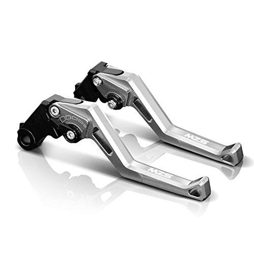 MZS Adjustment Brake Clutch Levers for Aprilia Tuono V4RFactory 2011-2016 Silver
