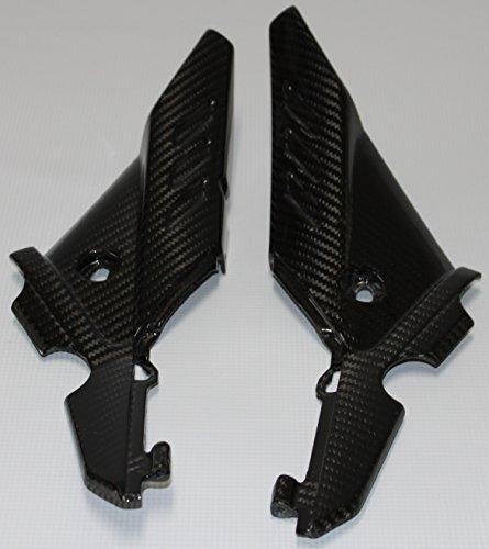 Carbon Fiber Racing ASA87CFFG Carbon Fiber  Fiberglass Aprilia Shiver 750 2011-2013 Side Panels