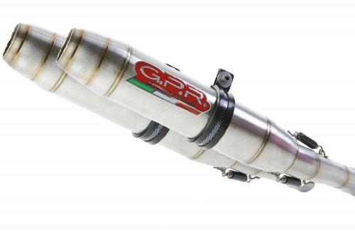 Aprilia Futura 1000 GPR Exhaust Systems Deeptone Stainless Dual Slipon Mufflers Unrestricted Power