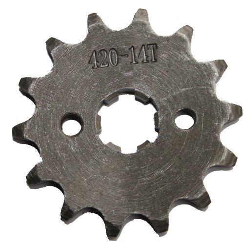 420 Chain 14-tooth 17mm Engine Sprocket for 50cc-125cc ATV Dirt Bike Go Kart 4 Wheeler Pit Bike