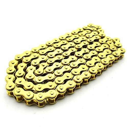 XLJOY 420 Chain 104 Links Gold Chain for XR50 CRF 5070 SSR Pit Dirt Bike ATV 110cc 125cc