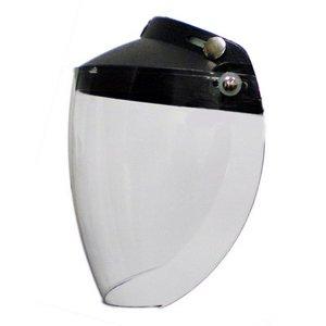 Flip Up FULL FACE SHIELD Visor 3 Snap for Motorcycle half Helmet Clear