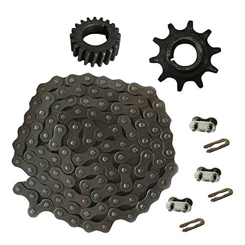 JRL 415 Chain&Drive Sprocket&3xChain Master Link For 49cc 66cc 80cc Motorized Bike