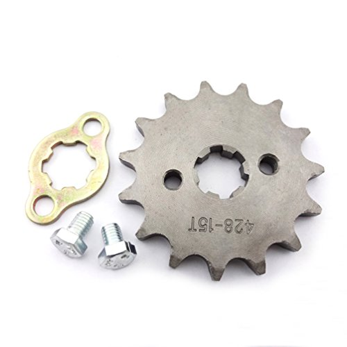 XLJOY 428 17mm 15 Tooth Engine Front Drive Sprocket Gear for Chinese ATV Dirt Pit Bike