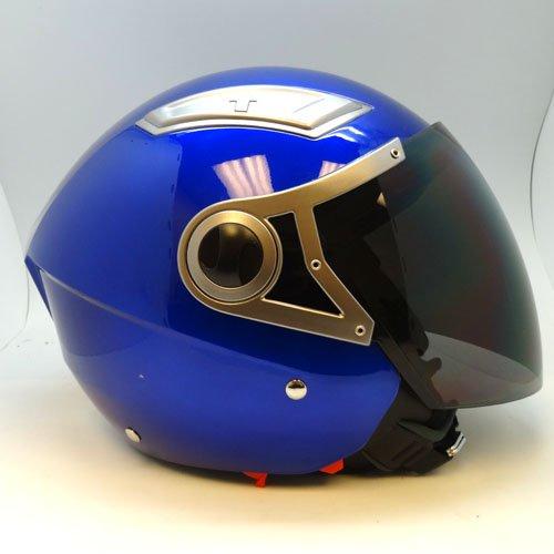 1STorm Motorcycle Street Bike Scooter Dual Visor Open Face Helmet Glossy Blue Size Medium 55-56 CM217220 Inch