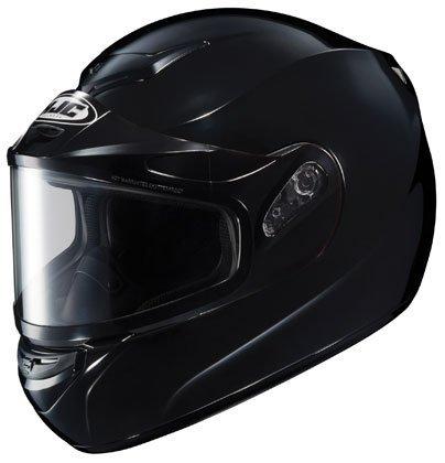 HJC CS-R2SN Solid Full Face Snow Helmet Framed Dual Lens Shield Black Large