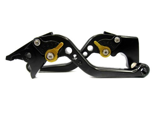 POWTEC PTBG-223 Adjustable short Brake and Clutch Levers for TRIUMPH 675 STREET TRIPLE R-BLACK WITH GOLD