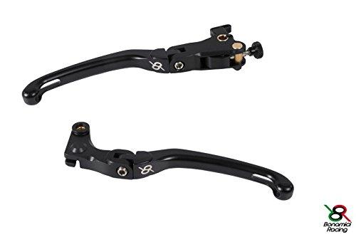Bonamici Yamaha R6 06-16  R1 04-14 Folding Lever Set Brake Clutch - Black