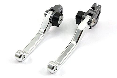 Tencasi Silver CNC Pivot Brake Clutch Levers for Suzuki RM85 2005-2016  RM125250 2004-2008