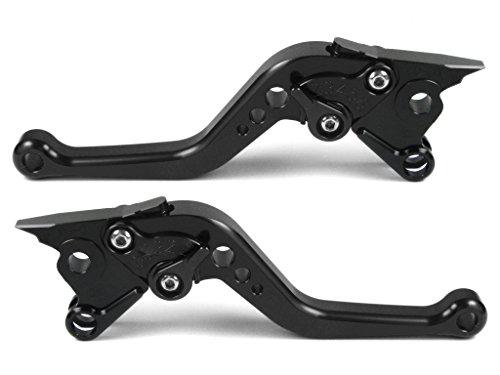Emotion Performance-STD-Short-Series Motorcycle Clutch Brake Lever Set for Triumph SCRAMBLER 2006-2016 - Black  Black AdjusterLever