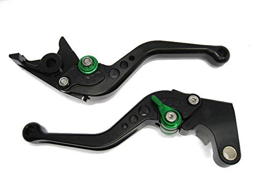 Emotion Sport-STD-Short-Series Motorcycle Clutch Brake Lever Set for Honda GROM 2014-2016 - Green  Black AdjusterLever