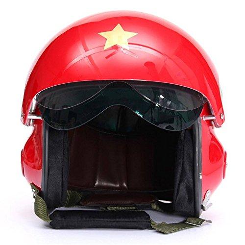 AUDEW MotorcycleScooter helmet Air force Jet Pilot flight DOT ECE Open Face Helmet