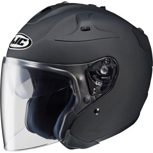 HJC Solid FG-JET 34 Open Face Motorcycle Helmet - Matte Black  Medium