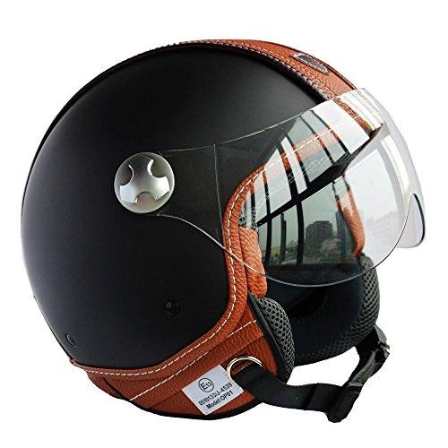 PEDA Italian Design MOCA B ECE DOT Motorcycle Helmet Unisex Open Face ITALY Jet Sport Urban Vintage CASCOS Leather Style Capacete Half Helmets X-Large 61-62cm