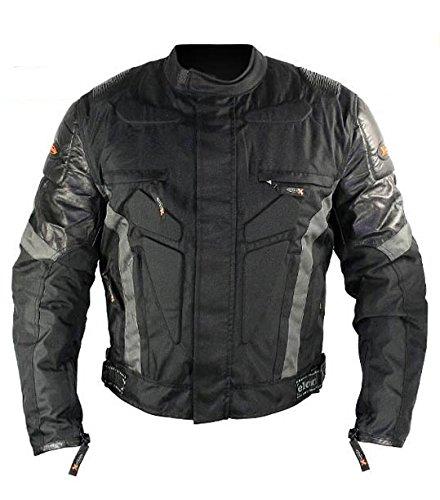 Xelement CF5075 Extreme Mens BlackGray Advanced Level-3 Tri-Tex Fabric Jacket - Large