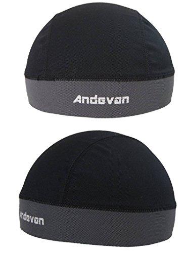 Andevan Helmet Liner Coolmax Fabric Skull Cap Style Pack of 2 Pcs
